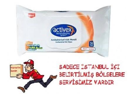 Activex Antibakteriyel Hassas Islak Havlu 56'lı