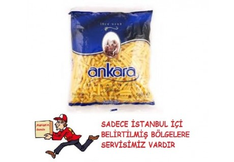 Nuh'un Ankara İnce Uzun Makarna 500 Gr
