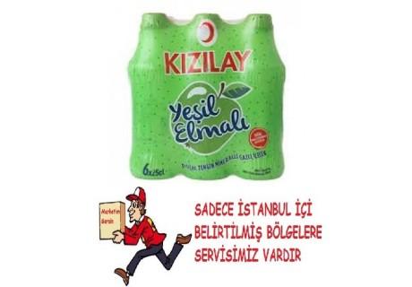 Kızılay Premium Maden Suyu - Yeşil Elma İçerir 6'LI PAKET
