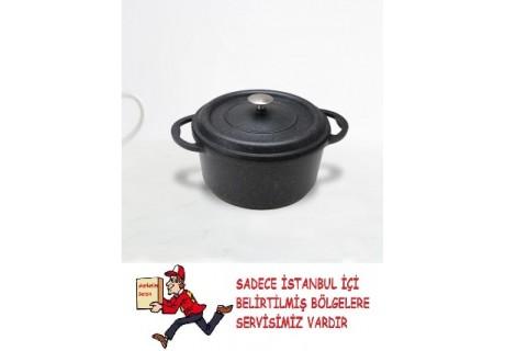 Granit Döküm Tencere (Döküm Kapaklı) 20 cm
