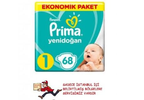 Prima Aktif Bebek No:1 Yenidoğan 68 Adet 2-5 kg Bebek Bezi