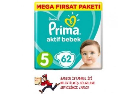Prima Aktif Bebek No:5 Junior 62 Adet Bebek Bezi