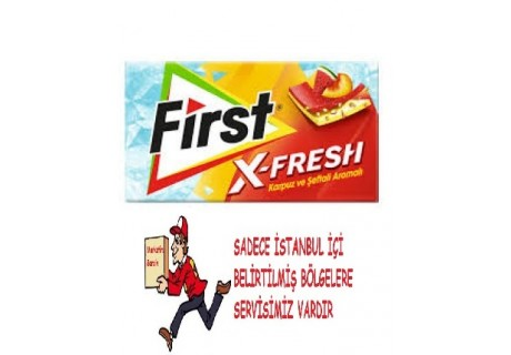 First Sensations X-Fresh Karpuz ve Şeftali Aromalı Sakız (27 gram)