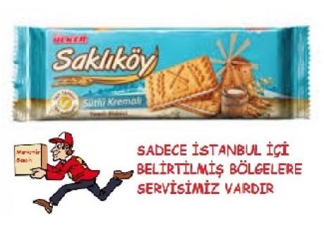 Saklıköy Sütlü Kremalı Bisküvi 100 Gr