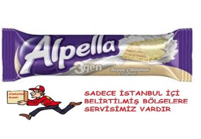 Ülker Alpella 3Gen Gofret Beyaz 28 gr