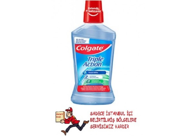 Colgate Triple Action Üçlü Etki 500 ml Gargara