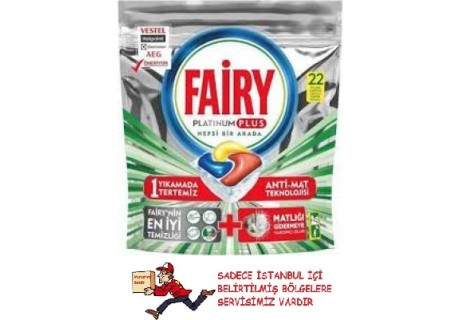 Fairy Platinum Plus 22 Adet Bulaşık Makinesi Tablet