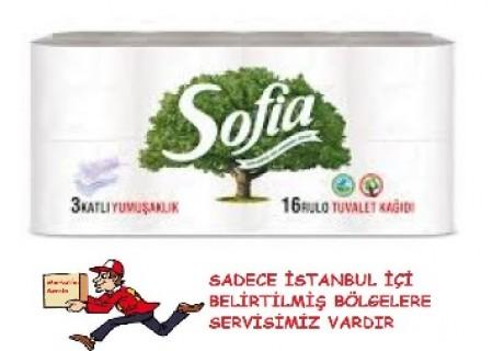 Sofia 3 Katlı Tuvalet Kağıdı 16'lı